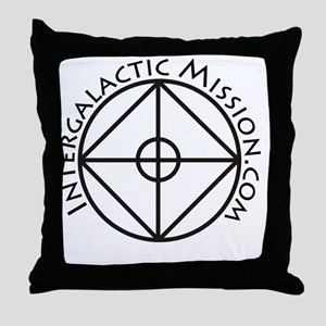 IntergalacticMission.com logo illustr Throw Pillow
