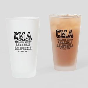 AIRPORT JETPORT  CODES - CMA - CAMA Drinking Glass