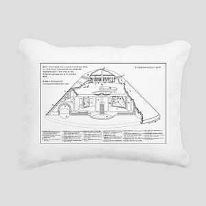 Spaceship Diagram Interi Rectangular Canvas Pillow