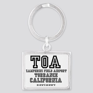 AIRPORT JETPORT  CODES - TOA -  Landscape Keychain