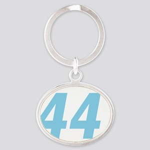 Obama 44 Squared Oval Keychain