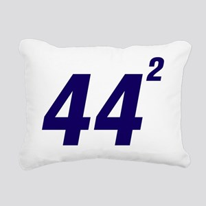 Obama 44 Squared Rectangular Canvas Pillow