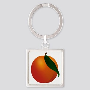 Peach Square Keychain