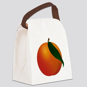 Peach Canvas Lunch Bag