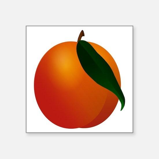 """Peach Square Sticker 3"""" x 3"""""""