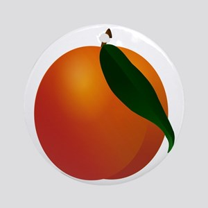 Peach Round Ornament