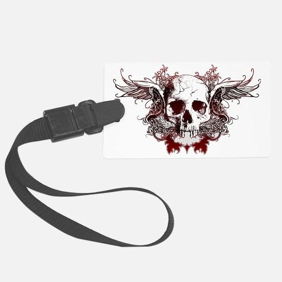 Dark Red Skull Luggage Tag
