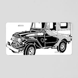FJ25 black trans t shirt Aluminum License Plate