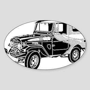 FJ25 black trans t shirt Sticker (Oval)