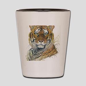 Tiger Head Shot Glass