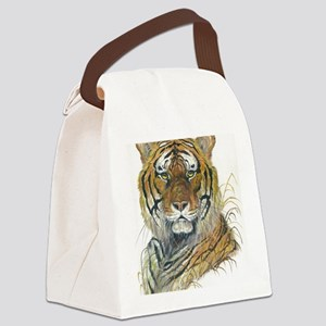Tiger Head Canvas Lunch Bag