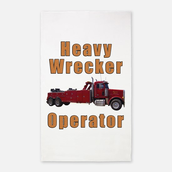 Heavy Tow Truck 3'x5' Area Rug