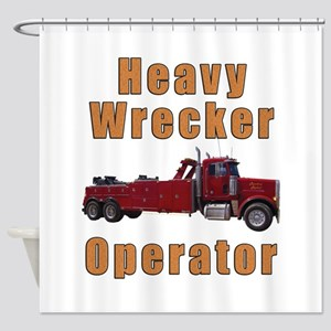 Heavy Tow Truck Shower Curtain