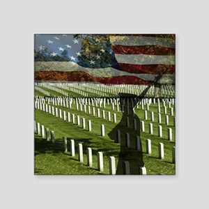 "Guard at Arlington National Square Sticker 3"" x 3"""