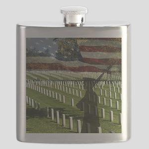 Guard at Arlington National Cemetery Flask