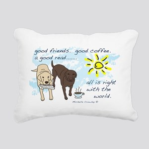good friends good coffee Rectangular Canvas Pillow