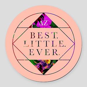 Delta Zeta Best Little Ever Round Car Magnet