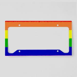 Rainbow Flag Car Magnet License Plate Holder