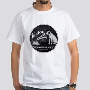 His Masters voice White T-Shirt