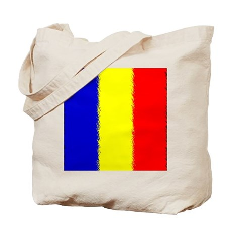 Romanian Flag Flip Flops Tote Bag