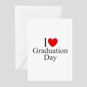 """I Love (Heart) Graduation Day"" Greeting Cards (Pk"
