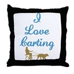 I Love Carting Throw Pillow