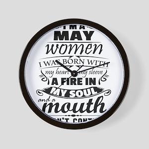 I Am A May Women Wall Clock
