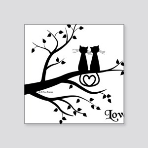 "Love Square Sticker 3"" x 3"""