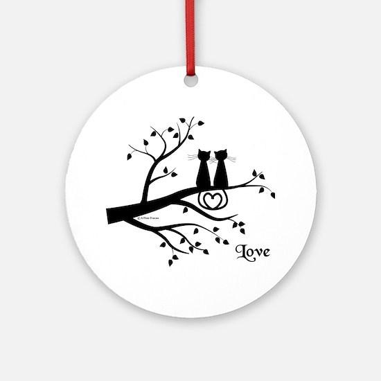 Love Round Ornament