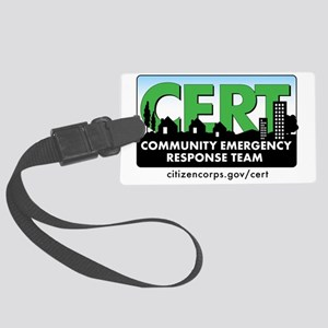 cert-banner-citizencorp-withurl Large Luggage Tag