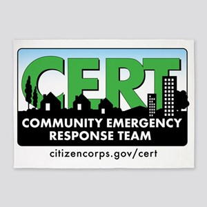 cert-banner-citizencorp-withurl 5'x7'Area Rug