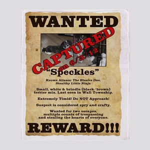 Speckles Wanted Poster Throw Blanket