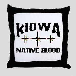 Kiowa Native Blood Throw Pillow