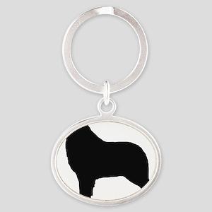 Australian Shepherd Oval Keychain