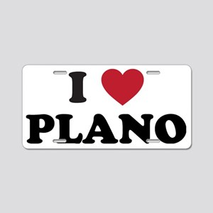 I Love Plano Texas Aluminum License Plate