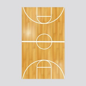 Basketball Court Sticker (Rectangle)