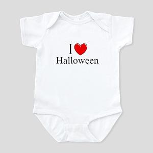 """""""I Love (Heart) Halloween"""" Infant Bodysuit"""
