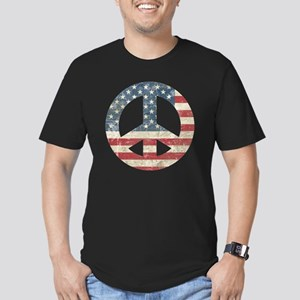 VintagePeace Men's Fitted T-Shirt (dark)
