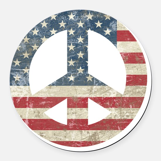 VintagePeace Round Car Magnet
