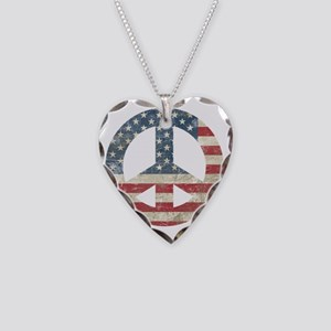VintagePeace Necklace Heart Charm