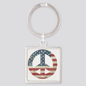 VintagePeace Square Keychain