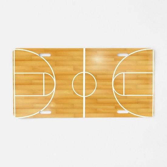 Basketball Court Aluminum License Plate