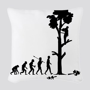 Tree-Trimmer2 Woven Throw Pillow