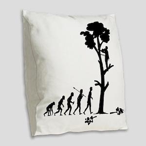 Tree-Trimmer2 Burlap Throw Pillow