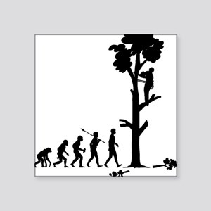 "Tree-Trimmer Square Sticker 3"" x 3"""