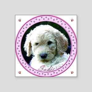 """Personalized Tile Box/Coast Square Sticker 3"""" x 3"""""""