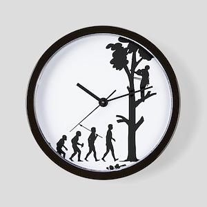 Tree-Trimmer Wall Clock