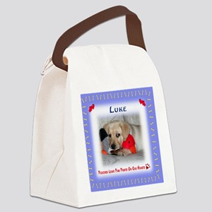 Personalized Critter Characters P Canvas Lunch Bag