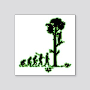 "Tree-Trimmer4 Square Sticker 3"" x 3"""