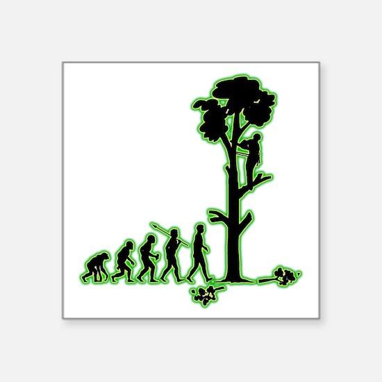 "Tree-Trimmer4 Square Sticker 3"" x 3"""